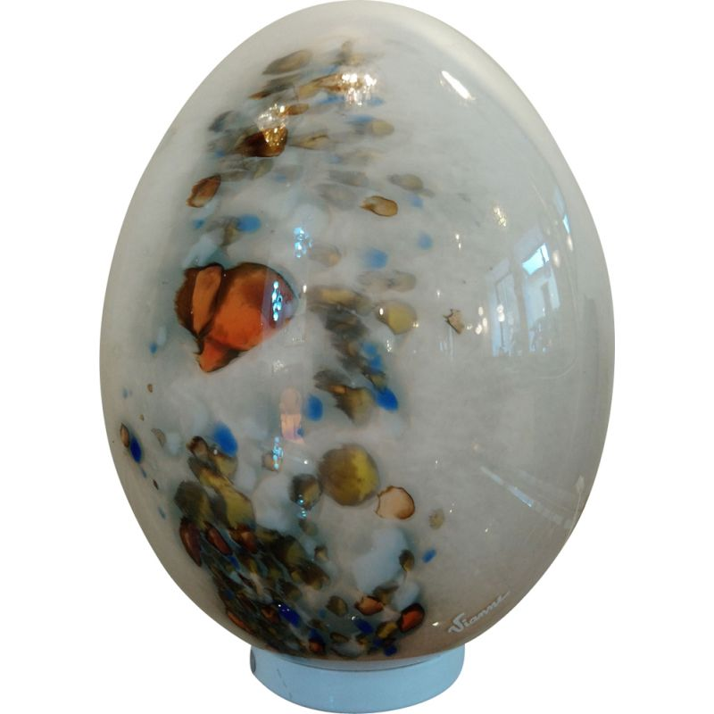 Vintage egg lamp in glass from Vianne