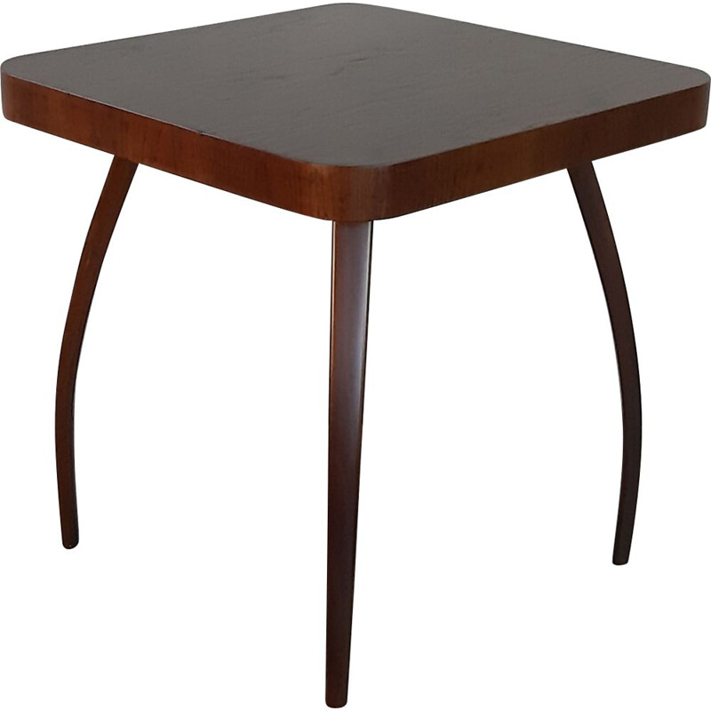 Vintage oak Spider table by Halabala for UP Zavody, 1930s