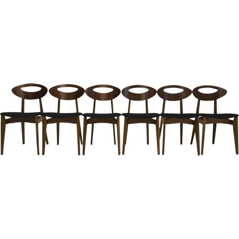 Set of 6 chairs by Roger Landault by Sentou