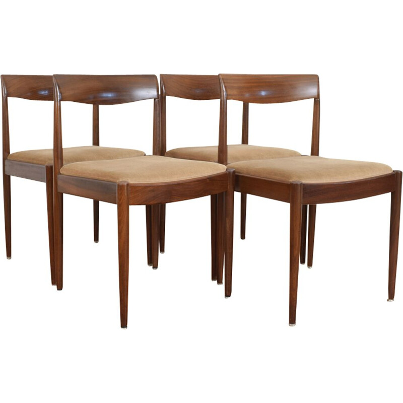 Set of 4 german dining chairs from Lübke, 1960s