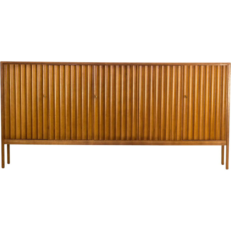 Vintage Leo Bub teak high sideboard for Bub Wertmöbel, 1970