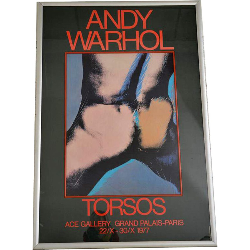 Vintage poster for 1977 Andy Warhol exhibition