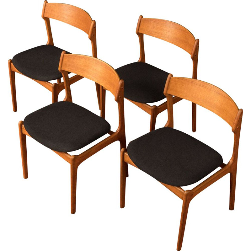 Vintage set of 4 dining chairs by O.D. Møbler from the 1950s