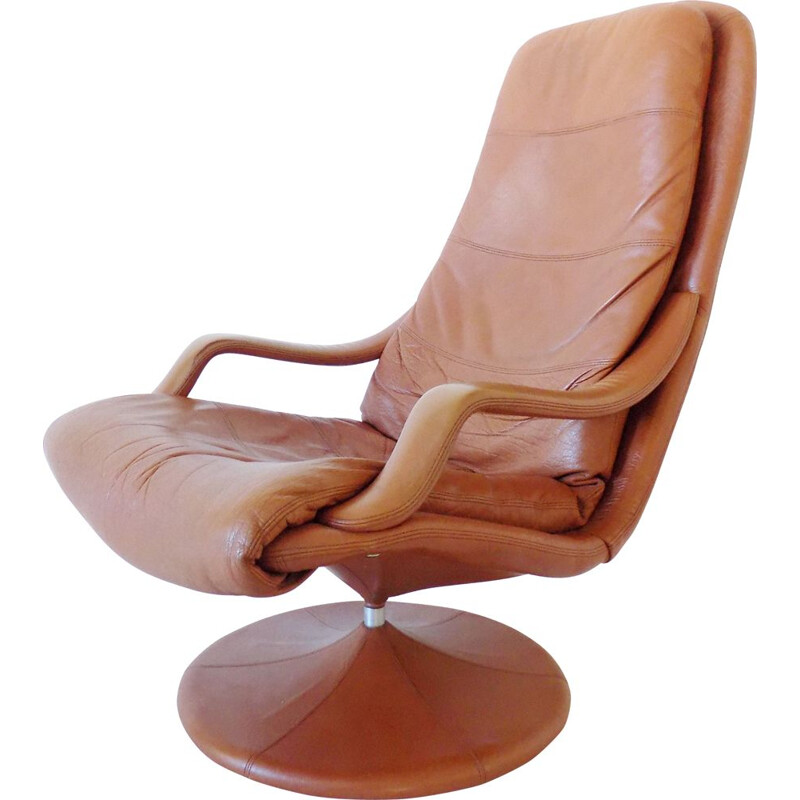 Vintage Danish leather loungechair by Georg Thams for Vejen