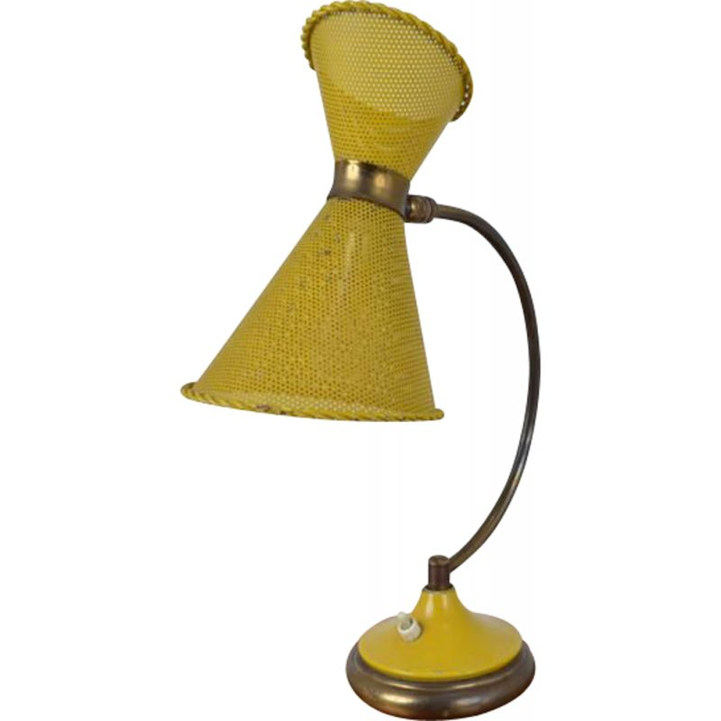 Vintage yellow table lamp 1950-1960