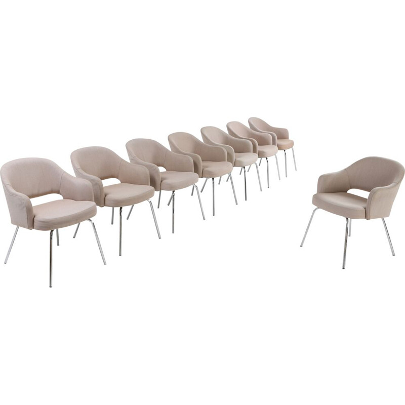 Vintage set of 8 dining chairs by Eero Saarinen for Knoll 1940