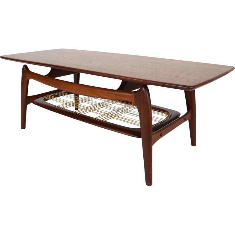Vintage Teak Coffee Table by Louis Van Teeffelen for WéBé, 1950s