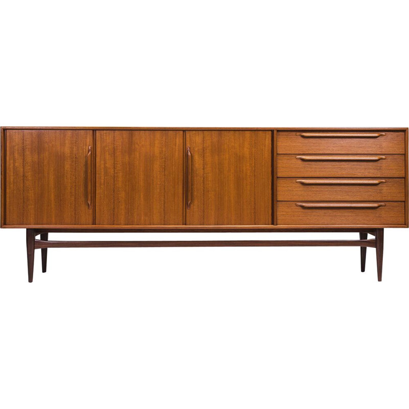 Vintage stringcourse model RT 200 Type 214 in teak by Heinrich Riestenpatt, 1960