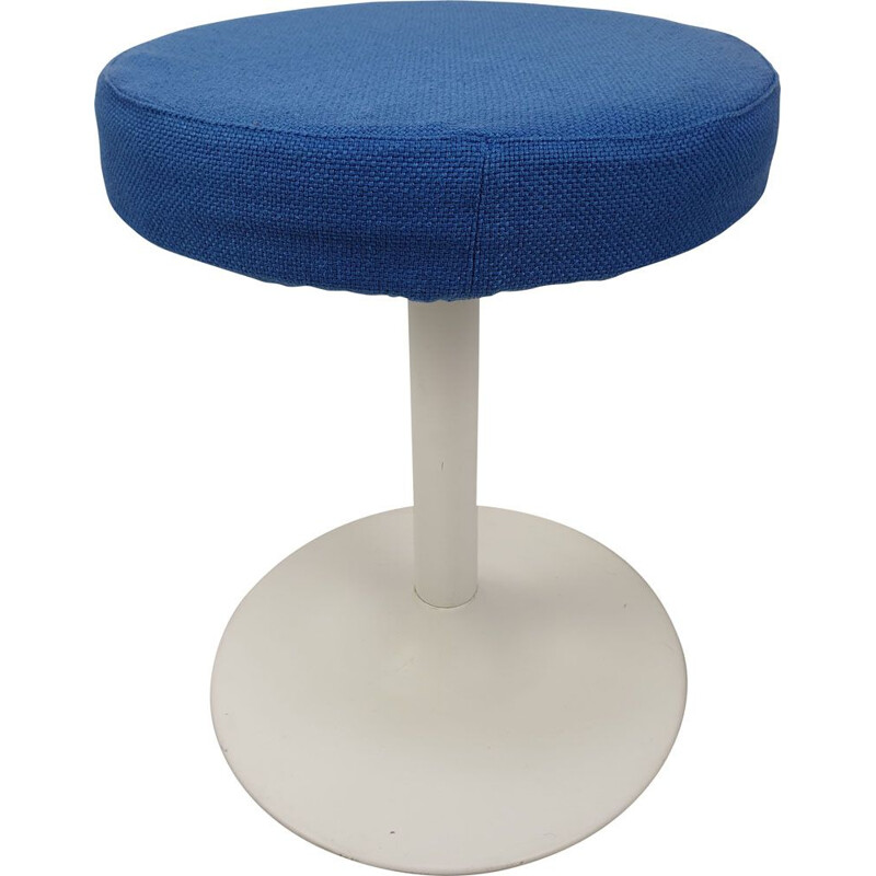 Vintage Metal blue Stool 1980s