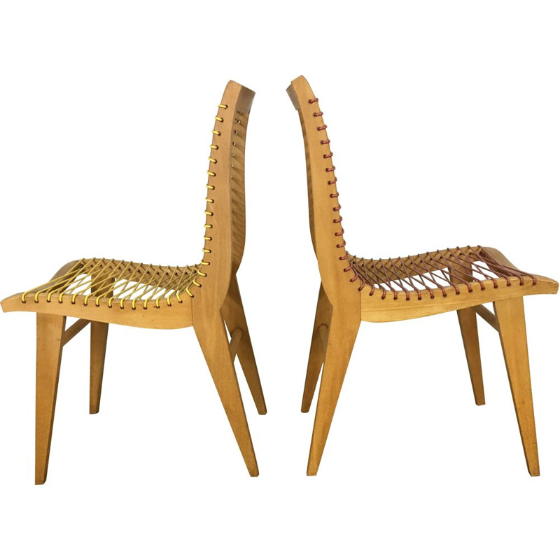 Pair of Chairs by Louis Sognot 1950