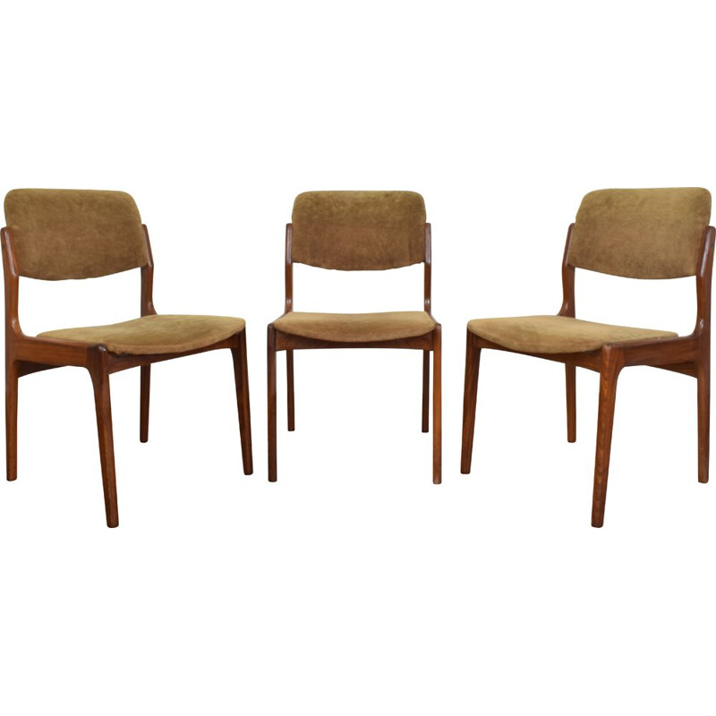 Set of 3 Vintage Danish Teak Dining Chair, 1960s