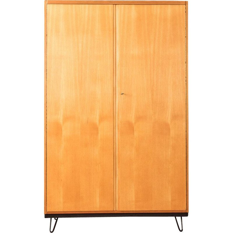 Vintage Wardrobe in walnut by WK Möbel, 1950s