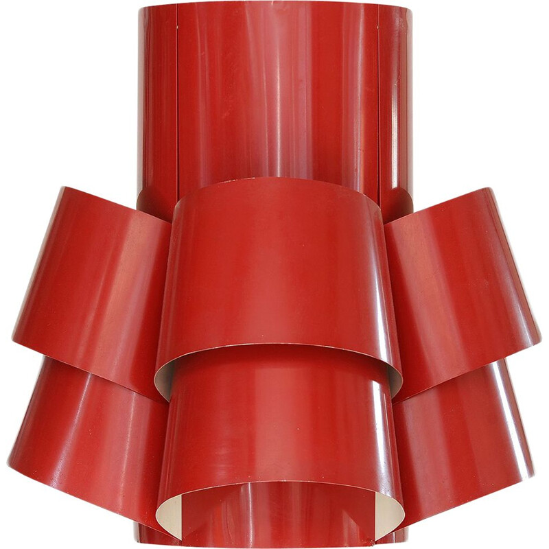 Vintage red XXL TN52 pendant light by Torsten Orrling for Hans-Agne Jakobsson AB, Sweden 1960s