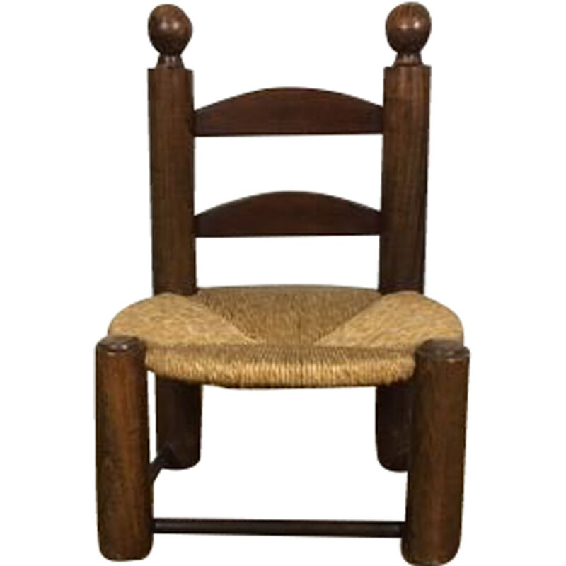 Vintage art deco side chair by Charles Dudouyt 1930