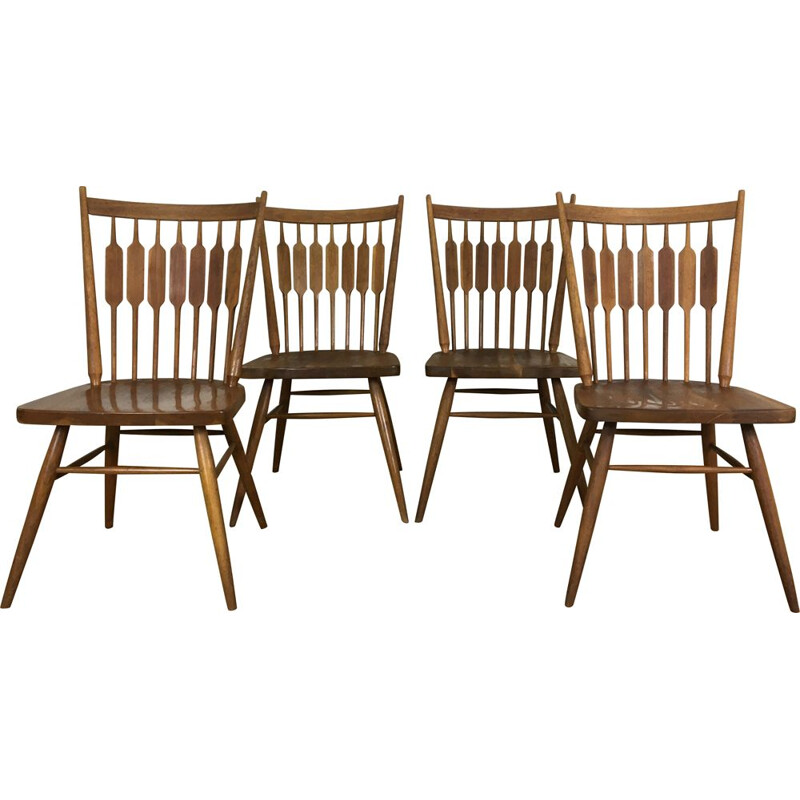 Set of 4 Centennial Chairs by Kipp Stewart for Drexel