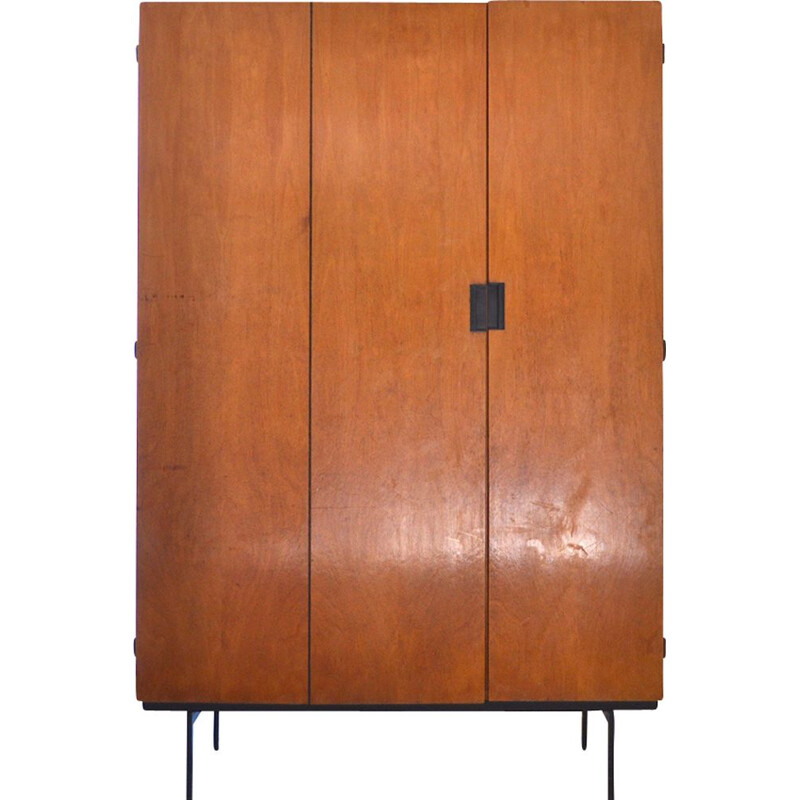 Vintage KU10 wardrobe by Cees Braakman for Pastoe UMS, Holland 1958.