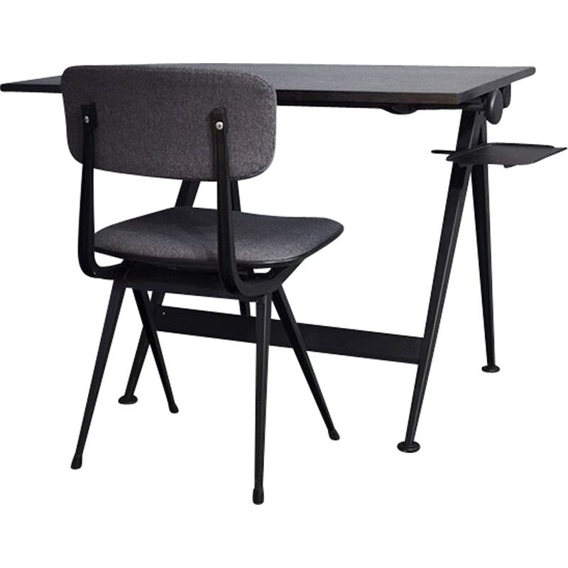 Vintage Desk with Result Chair By Friso Kramer For Ahrend De Cirkel , 1950
