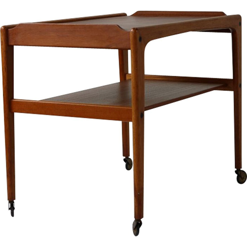 vintage Danish design teak tea trolley by Kurt Ostervig