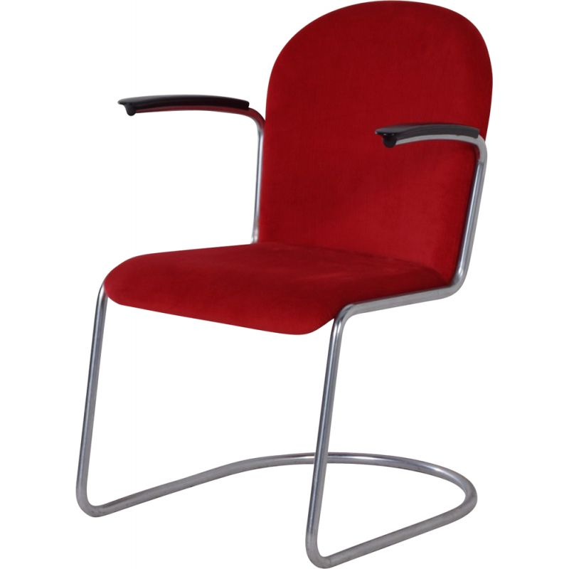Vintage 413-R Gispen Chair by by Willem Hendrik Gispen, 1950s