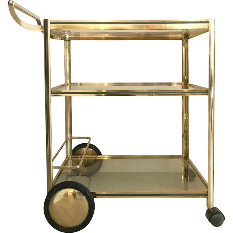 Vintage drinks Trolley by Jacques Quinet for Maison Malabert