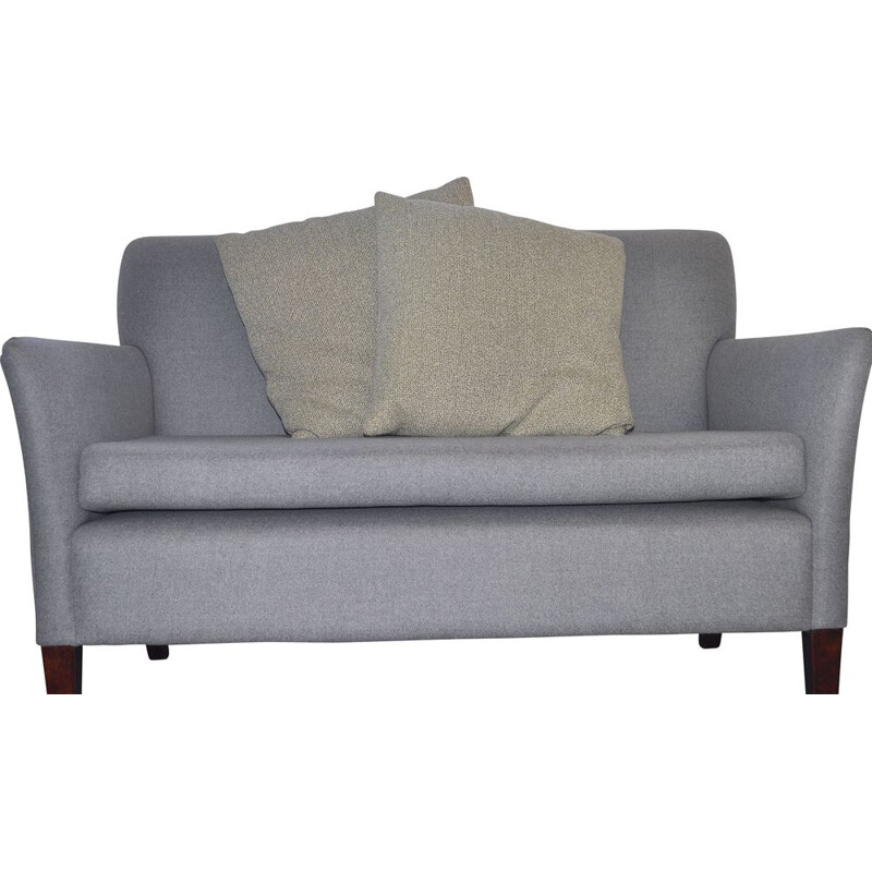 Vintage Two Seater Danish Sofa in grey wool
