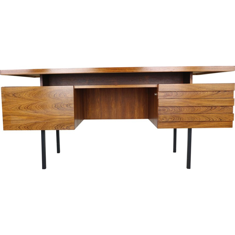 Vintage rosewood writing table desk by Leo Bub for Wertmöbel, 1960s