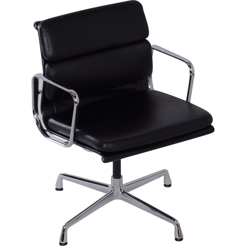 Vintage black EA 208 chair by Charles & Ray Eames for Vitra, 2000