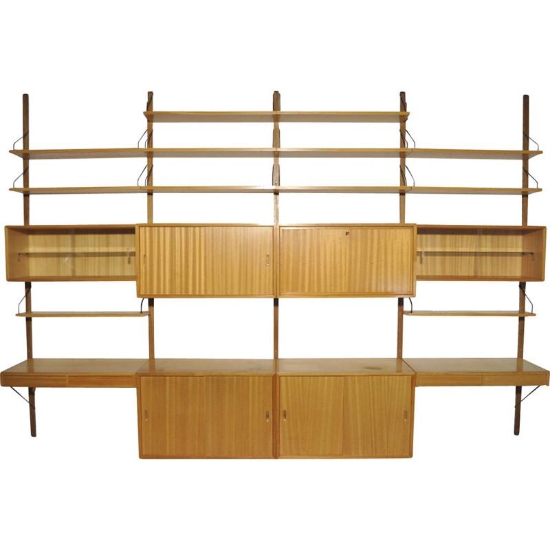 Vintage oak modular wall unit by Poul Cadovius for Cado, 1960s