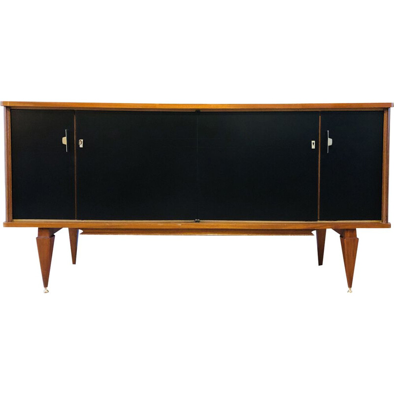 Vintage French teak sideboard 1960