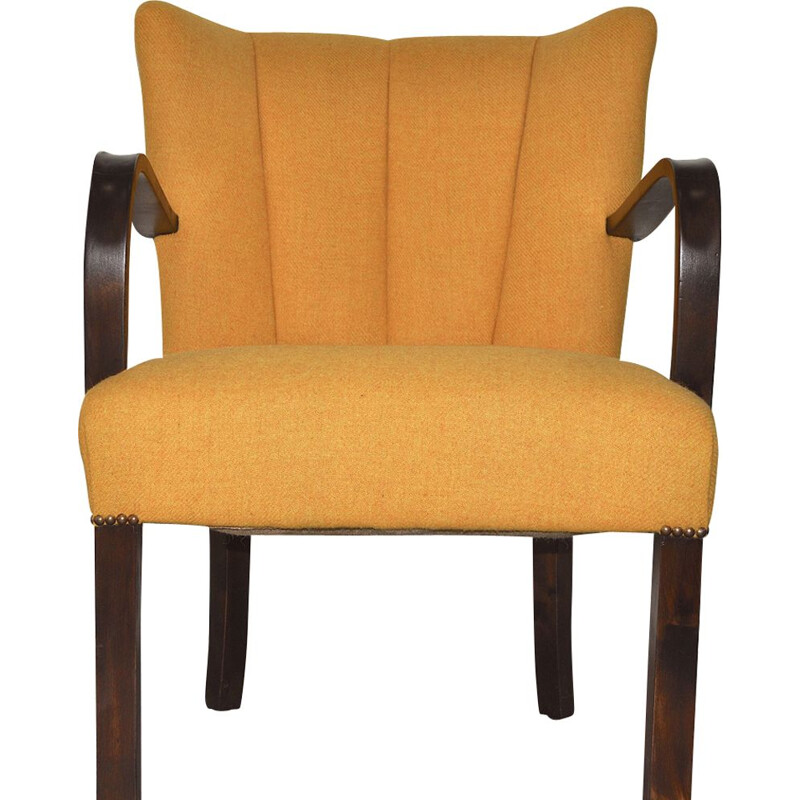 Vintage yellow cocktail chair