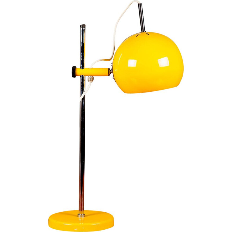 Vintage yellow table lamp by Starlux , 1960s