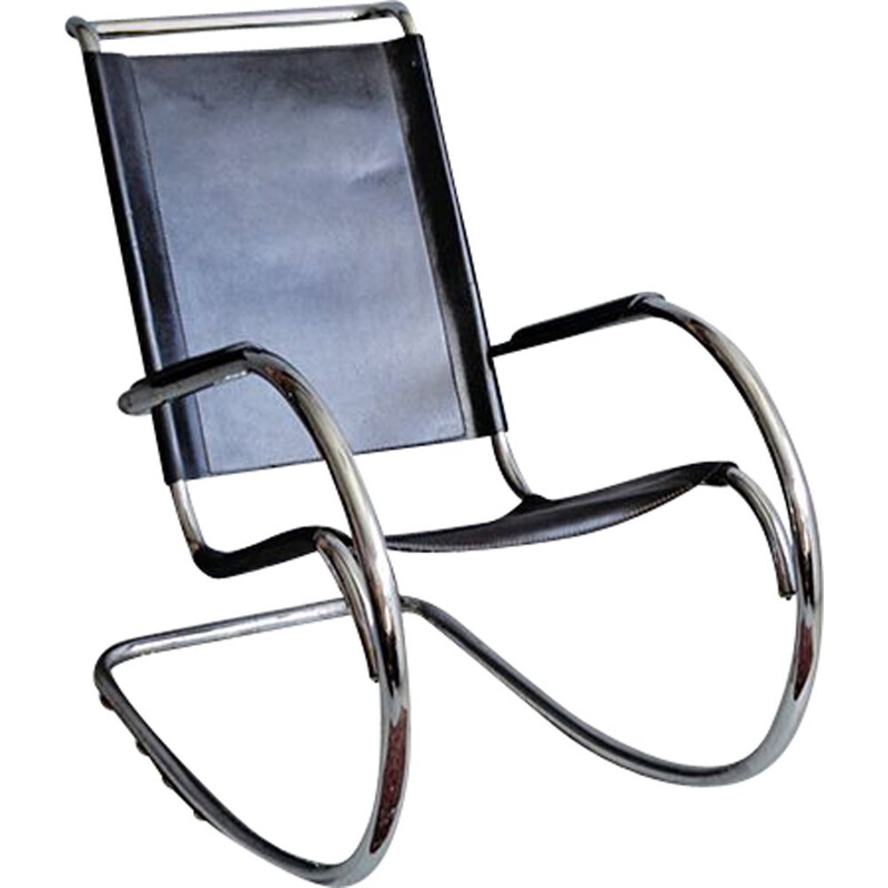 Vintage rocking chair by Fasem 1960s