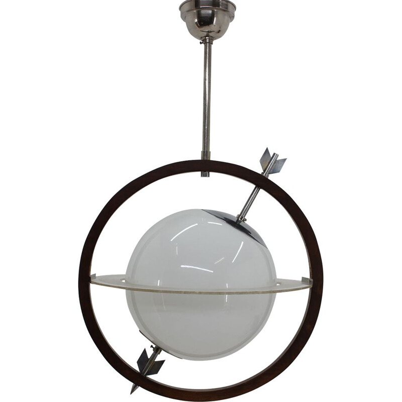 Vintage Saturn hanging lamp by Gio Ponti & Pietro Chiesa for FontanaArte