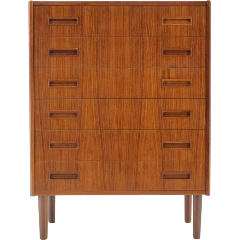 Vintage Danish teak chest of drawers with 6 drawers 1960s