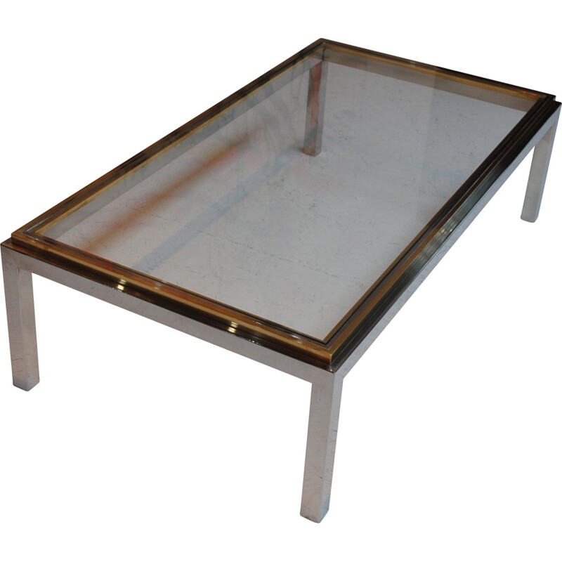 """Flaminia"" coffee table in glass, Willy RIZZO - 1970s"