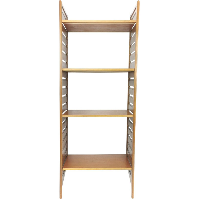 Vintage Staples Ladderax single bay teak shelving unit 1960s