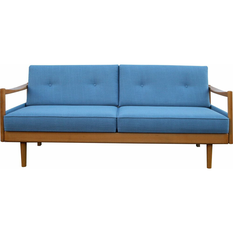 Vintage blue daybed by Wilhelm Knoll, 1960s