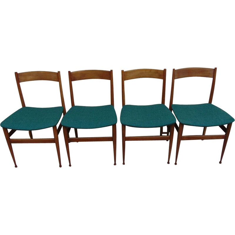 Set of 4 dining chairs by Passoni Italia, 1960s