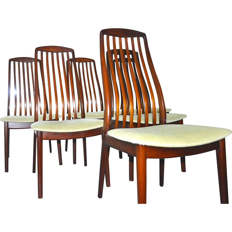 Set of 6 vintage Teak Danish Dining Chairs by Preben Schou