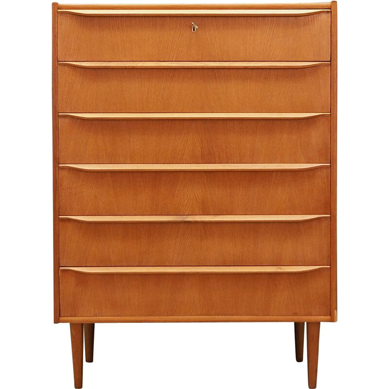 Vintage Danish Chest Of Drawers in ash, 1960