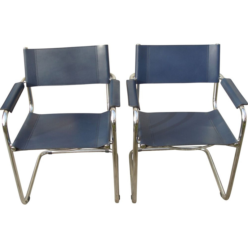 Pair of vintage armchairs B 34 by Marcel Breuer