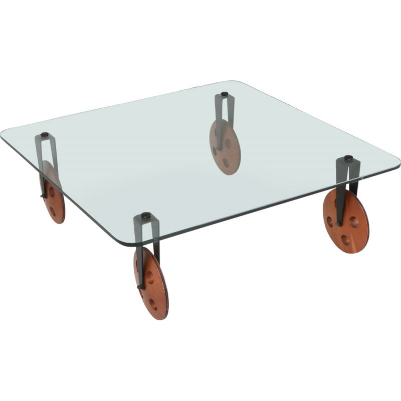 Modern Vintage Coffee Table With Wheels 1970s Design Market