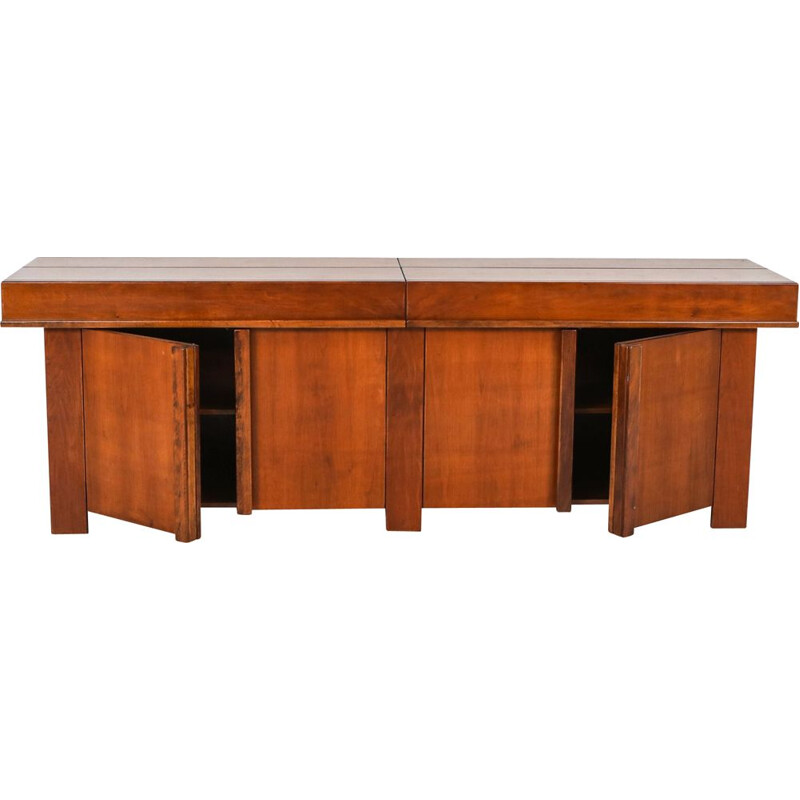 Large vintage sideboard in solid elm, 1960s