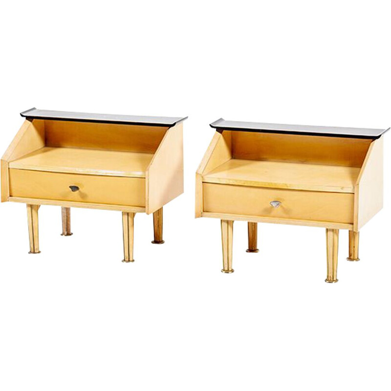Set of 2 danish vintage nightstands, 1950s