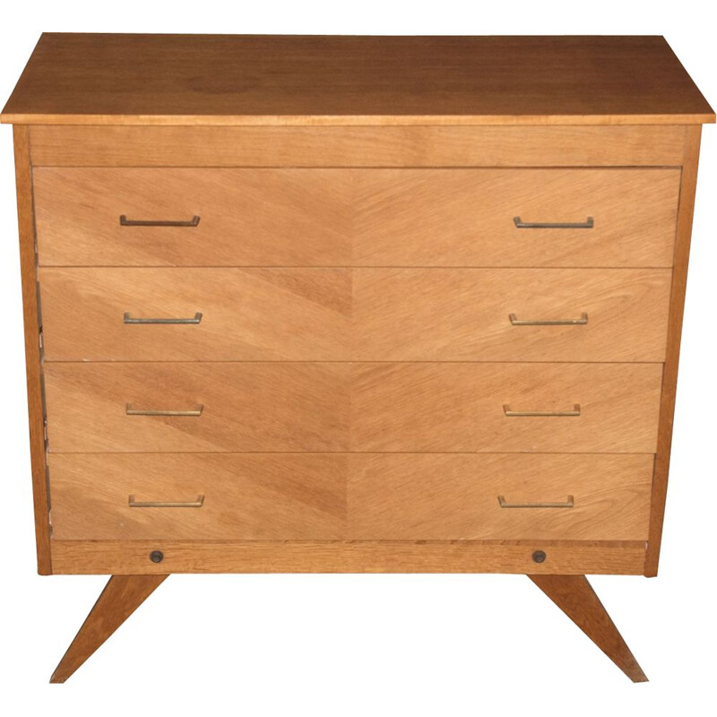 Vintage chest of drawers with compass feet, 1960