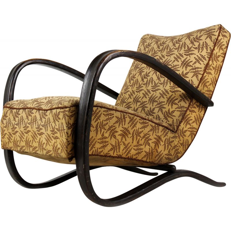 Vintage H-269 Art Deco Armchair by Jindrich Halabala for Thonet, 1930s