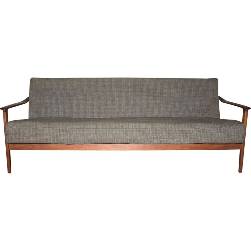 Vintage Scandinavian teak sofa-bed 1960