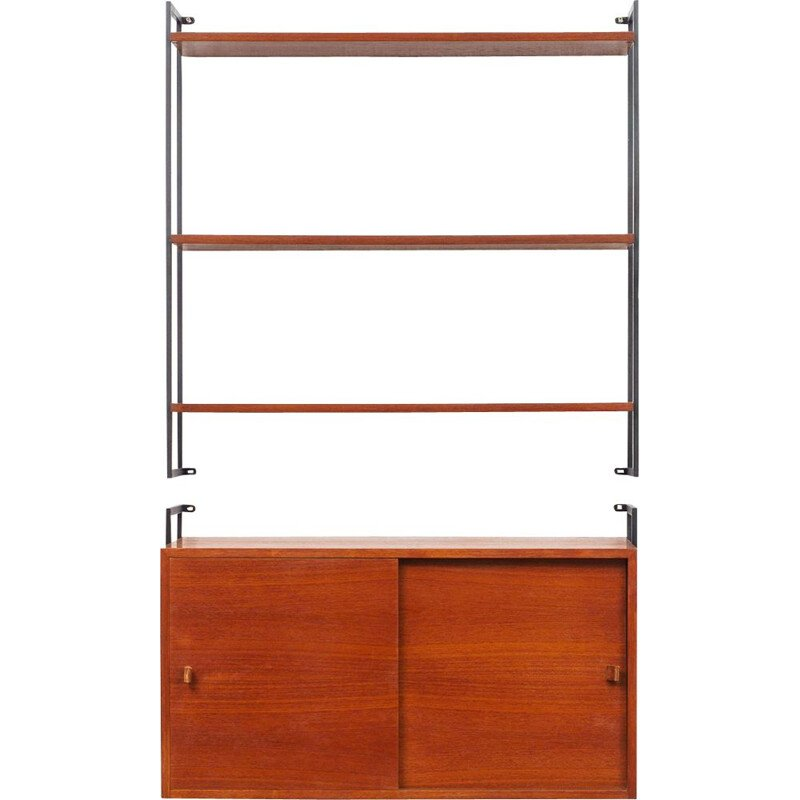 Vintage Modular wall shelving unit in teak 1960s