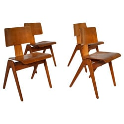 4 chairs Hillestack, Robin DAY - 1950s