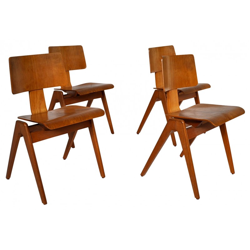 4 Chairs Hillestack Robin DAY